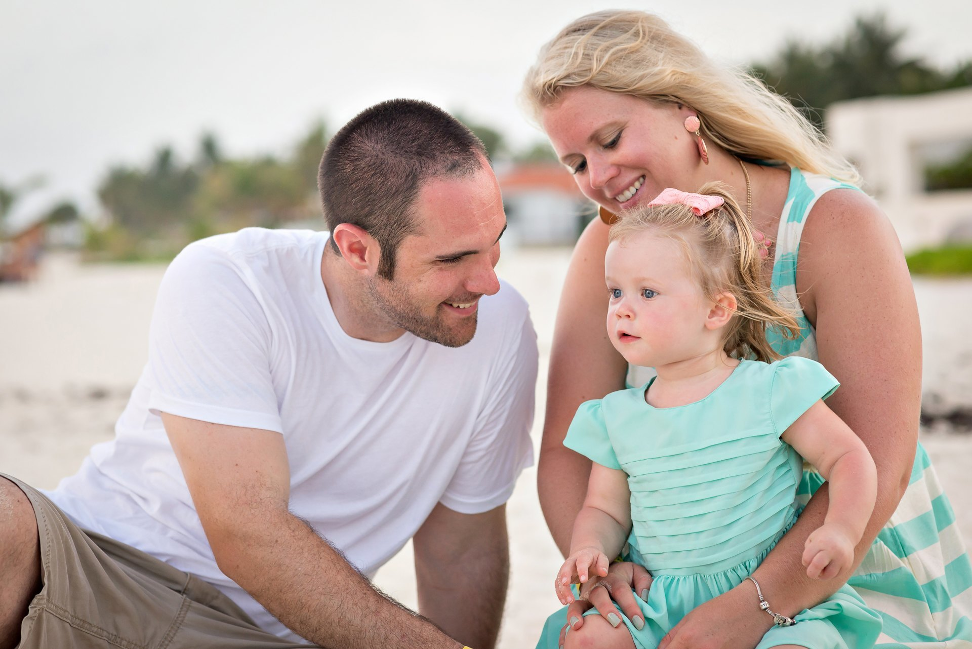 The Biggs Family's Photo Session at Xaman-Ha Ruins and Playacar Beach