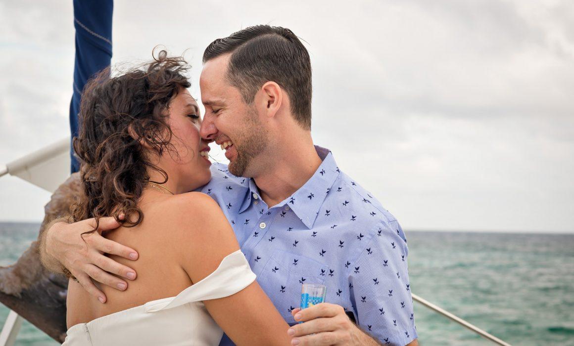 "Jayme & Daren's Casual & Cool, Non-Traditional Catamaran ""Un-Wedding"" in Puerto Aventuras"
