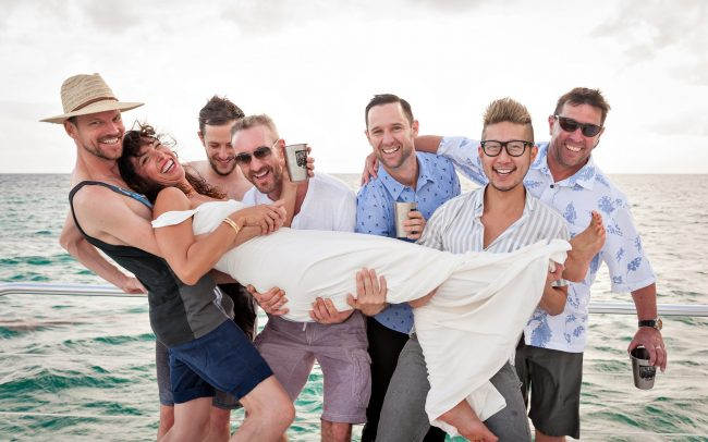 "Jayme & Daren's Casual & Cool, Non-Traditional Catamaran ""Un-Wedding"" in Puerto Aventuras"
