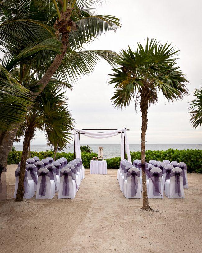 Claire & Brian's Cute Destination Wedding at Barceló Maya Palace