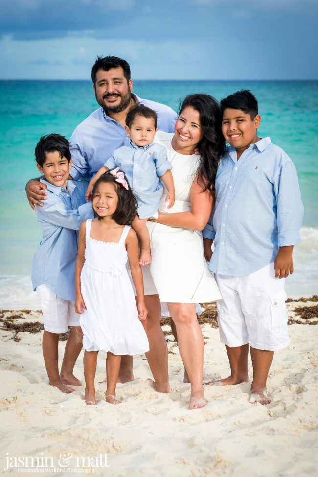 The Hernandez Family Photo Session at Xaman-Ha Ruins in Playacar