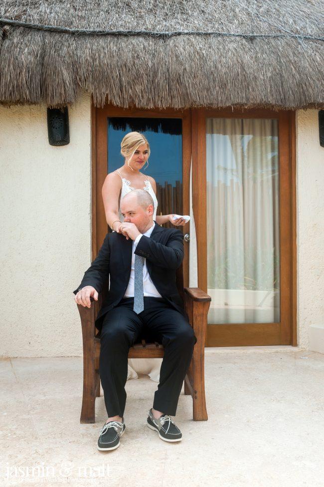 Jessica & Brennan's Sexy Bohemian Destination Wedding at Mahekal Beach Resort in Playa del Carmen