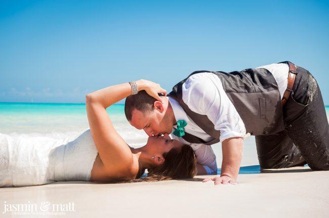 Kayla & Jason's Beach Trash the Dress at Hotel Playa Cayo Santa Maria Cuba