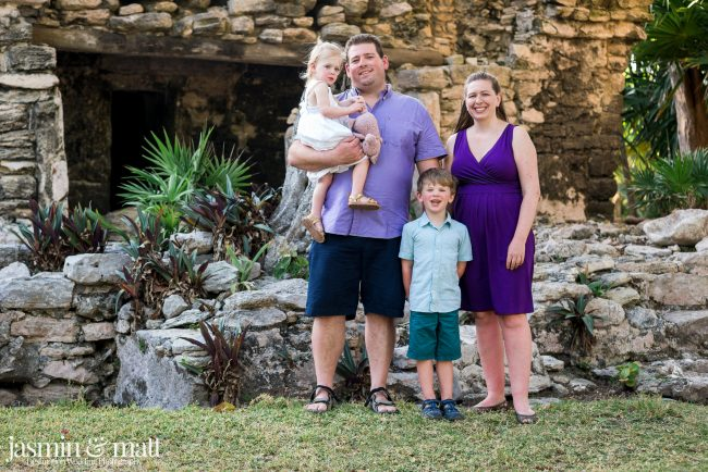 The Rhude Family Photo Session at Xaman-Ha Ruins in Playacar