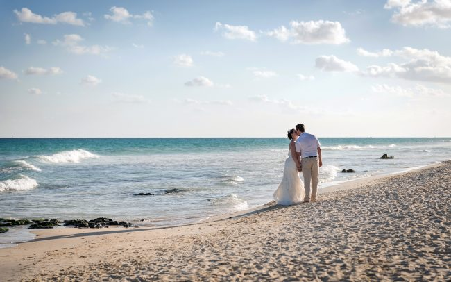 Monica & Chance - Playacar Beach Honeymoon Photography