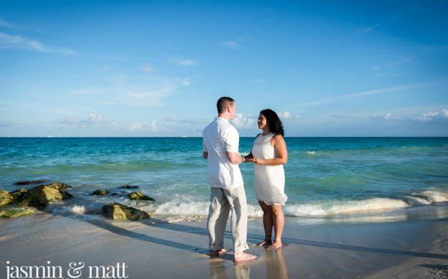 Amanda & Brad and Cat & Dave's Double Vow Renewal at Playacar Beach