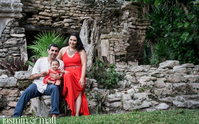 The Lopez Family's Baby's Baptism & Family Photos in Playa del Carmen - Cancun Family Photography