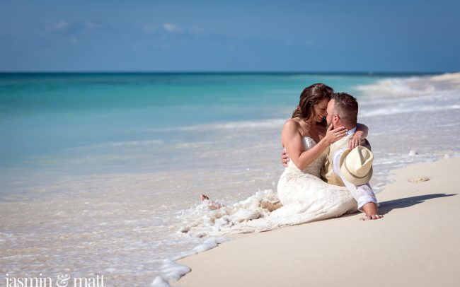 A Sexy & Dreamy, Early Morning Trash the Dress Session on the Beach