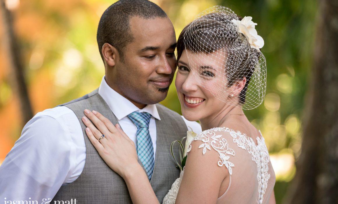 Beth & Seneca's Jungle Canopy, Destination Wedding at Iberostar Quetzal