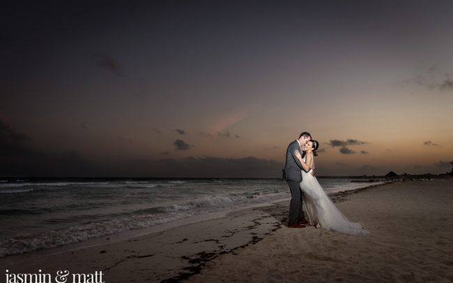 Sarah & Jonathan's Romantic, Sunset Rooftop Ceremony At Azul Sensatori