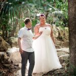 Stephanie & Lee's Magically Enchanting, Cenote Trash the Dress Session