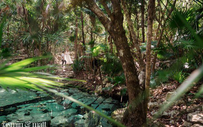 Stephanie & Lee's Magically Enchanting, Cenote Trash the Dress Session