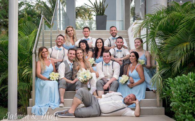 Acaylia & Allan's Playful & Perfect Beach Wedding at Riu Playacar - Playa del Carmen & Cancun Wedding Photography