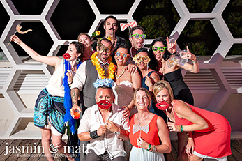 Photo Booth - Cancun Wedding Photography