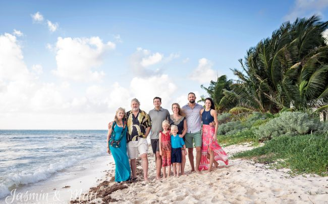 The Allen Family Photo session on Tankah Beach at Solimon Bay, Mexico
