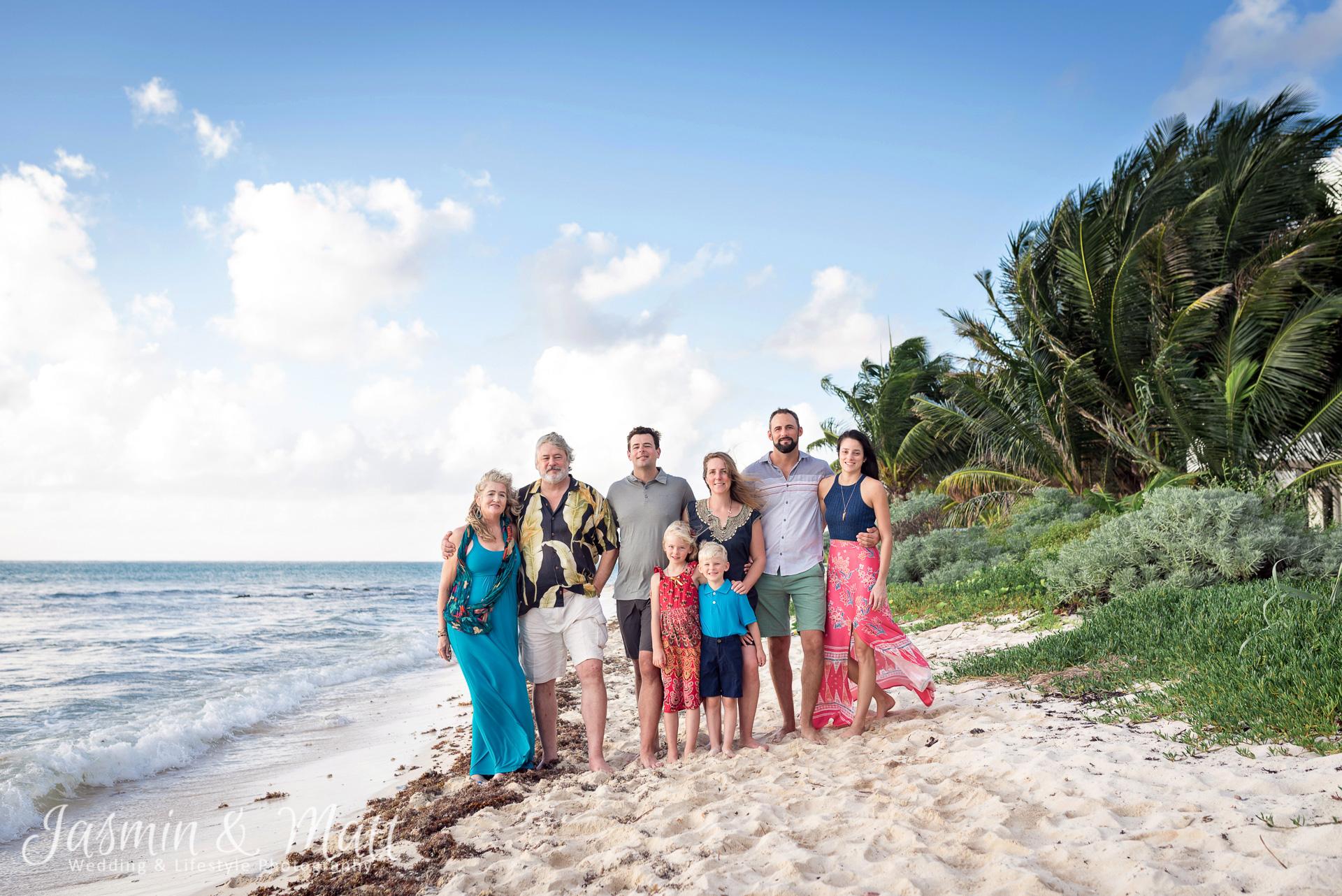 The Allen Family Photo session on Tankah Beach at Solimon Bay, Mexico