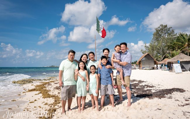 The Lee & Kim Families Spend the Day at Xcalacoco Beach, Playa del Carmen