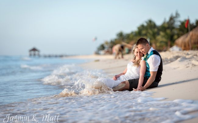 Stephanie & Loren's Sunrise Beach Trash the Dress Session