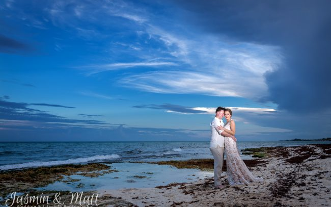 Megan & John - Xcalacoco Beach Wedding Photography