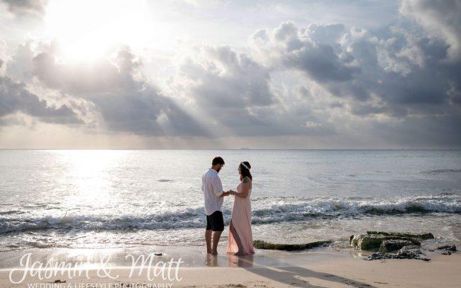 Trista & Tyler - Xcalacoco Beach Playa del Carmen Photography