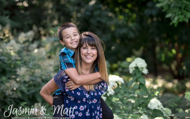 Nicole & Logan - Leo Mol Sculpture Garden Winnipeg Manitoba Family Photography