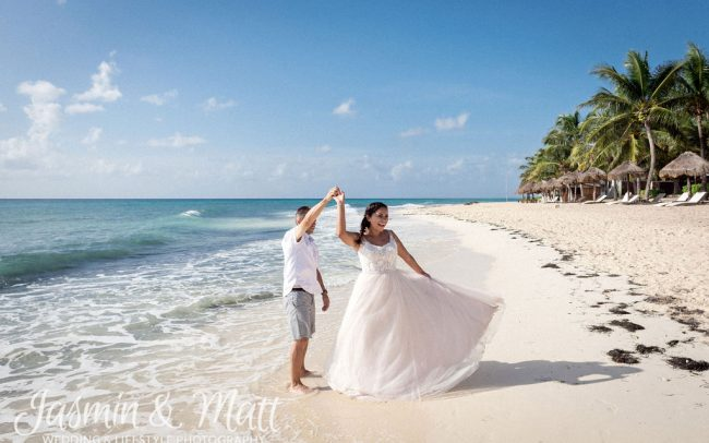 Karyna & Jason - Playa del Carmen Trash the Dress Photography