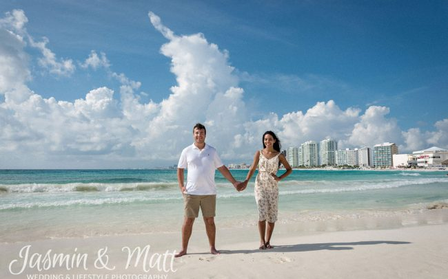 Melissa & Frank - Hyatt Ziva Cancun Engagement Photography