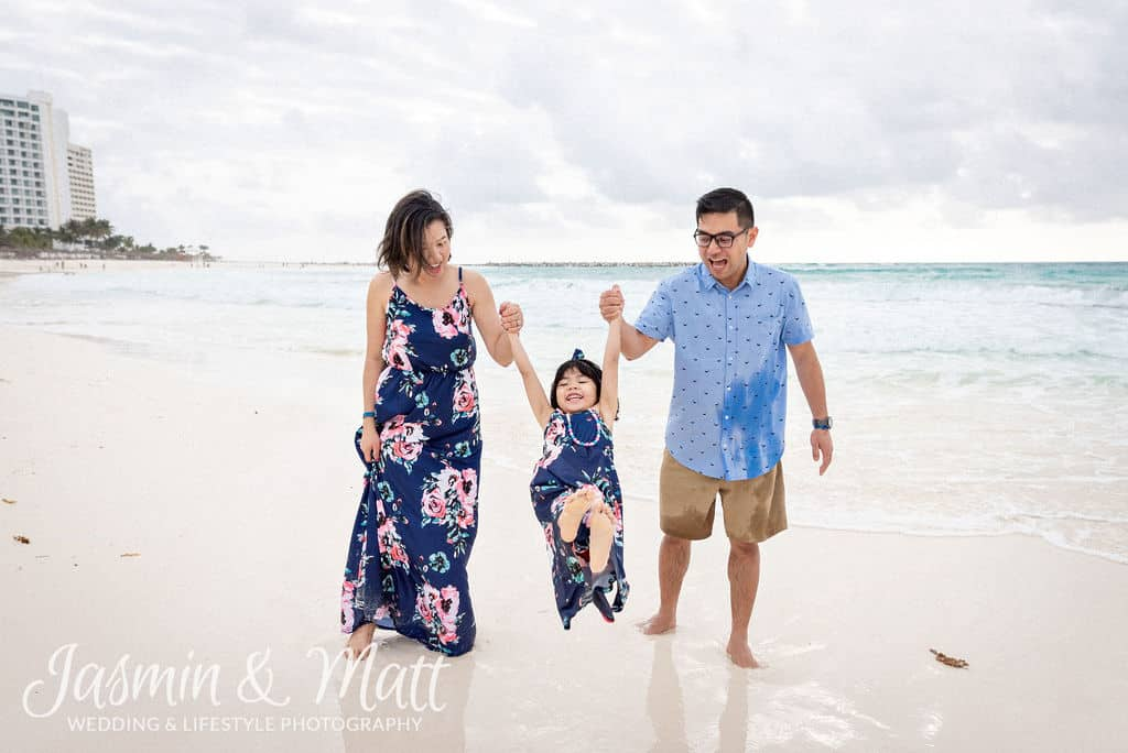 Barrera Family - Playa Gaviota Azul Cancun Family Photography