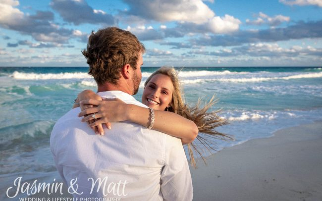 Morgan & Brandon - Playa Delfines Cancun Engagement Photography