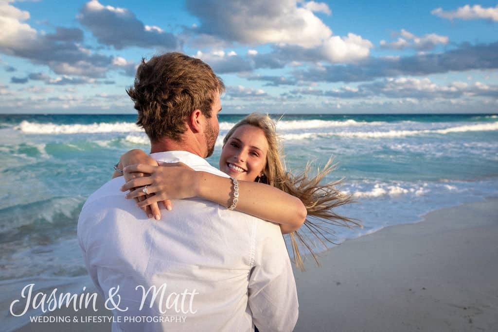 Morgan & Brandon - Playa Delfines Cancun Engagement Photography