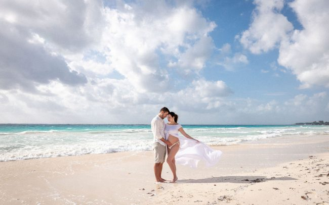Valeria & Armando - Tulum Beach Maternity Photography