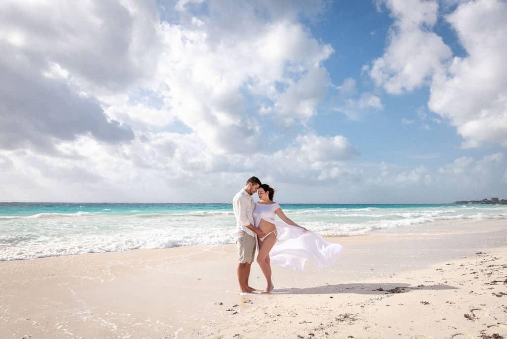 Valeria & Armando - Tulum Beach Maternity Photography