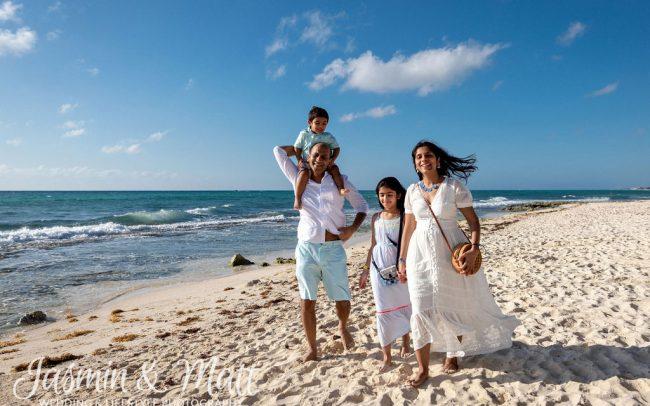 Jain Family - Xcalacoco Beach Playa del Carmen Family Photography