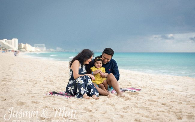 Kinjal, Mahesh & Kimaya - Playa Delfines Cancun Family Photography